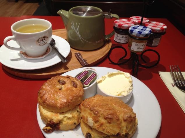 Cream tea from Patisserie Valerie
