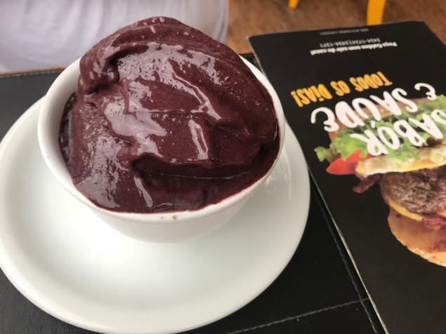 You can get frozen açaí at a restaurant...